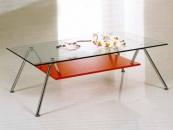 Simple glass coffee table