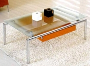 Table basse carr¨¦e en verre-4