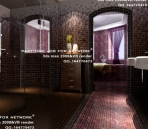 Bathroom with mosaic wall
