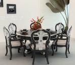 Combinaci¨®n de estilo europeo de mesas y sillas