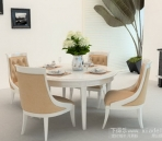 European-style combination of table and chairs-3